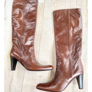 Bruno Magli Heeled Leather Riding Boots